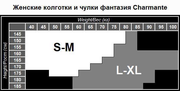 как определить размер колготок Charmante